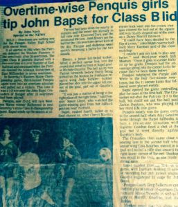My first-ever byline from the fall of 1984.