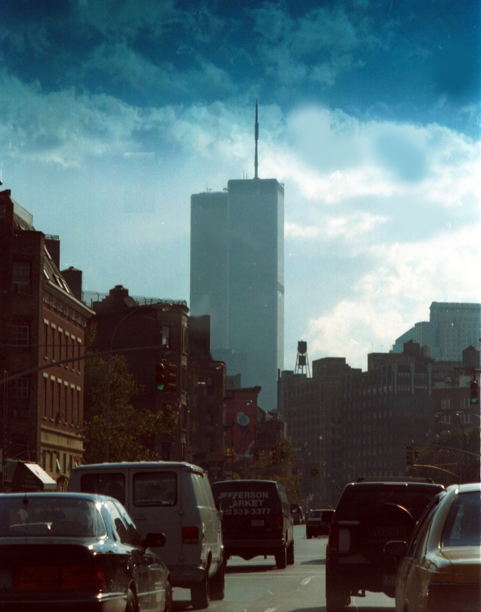 The Twin Towers as they once stood in the 1990s.