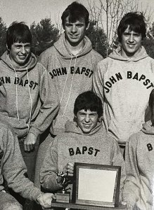 Jody Norton, front and center, and the author, to the rear and right, were part of a state championship team in the fall of 1982.