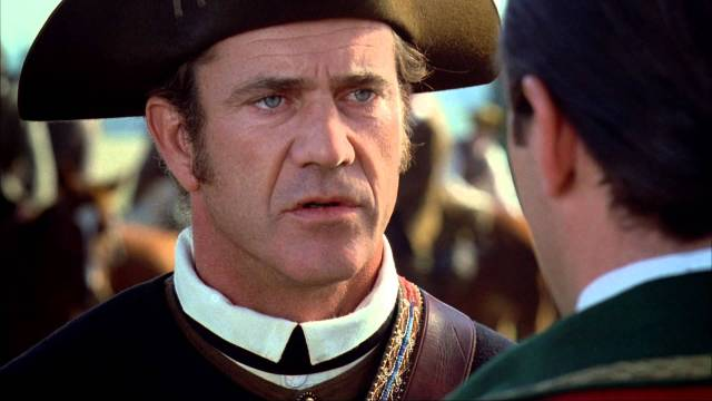 "Mel Gibson as Col. Benjamin Martin, from the movie, ""The Patriot."""