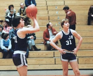 As a player my sophomore year at the Bangor Auditorium.