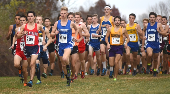 It takes a very special person to be a cross country runner. This photo was captured at the start of the 2015 Connecticut State Open championship. (Photo by John Nash)