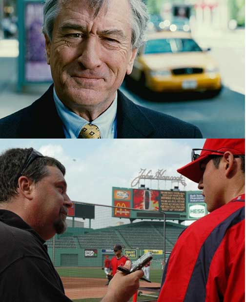Robert De Niro (top) and Yours Truly (bottom left) ... Two fading careers?