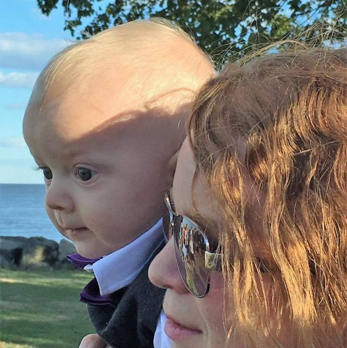 Benjamin and his mom look out on their new world. (Stolen from his mom's facebook page)