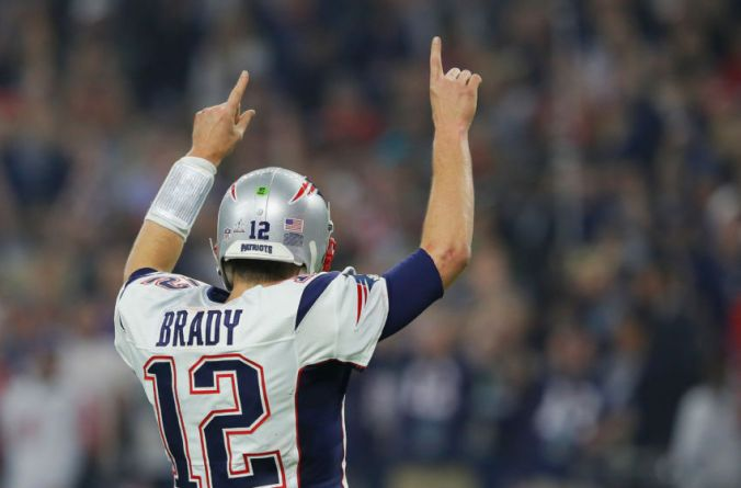 Tom Brady, No. 1 with five Super Bowl titles to his credit.