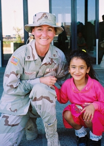 My dear friend, Yvette, served in Iraq, just one of the places in the world her eyes have seen.